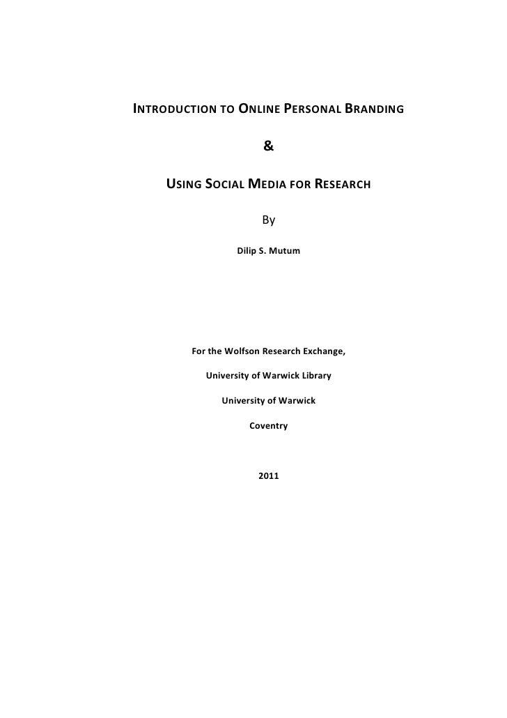Dilip social media academics ebook (1)