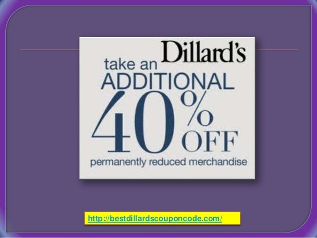 Dillards coupons code