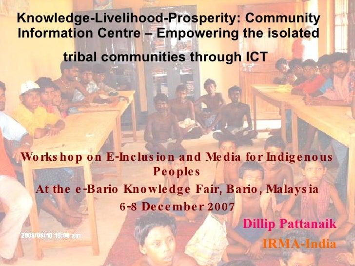 Dillip Pattanaik   Irma India Tribal Communities