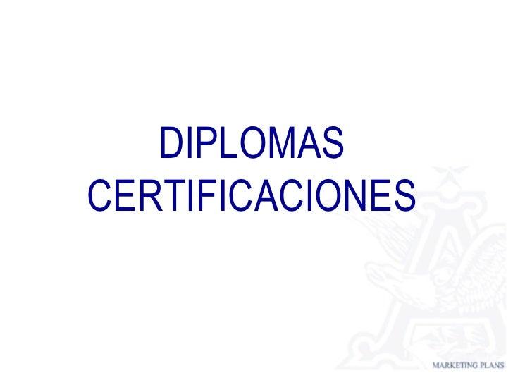 Dilplomas Certificaciones