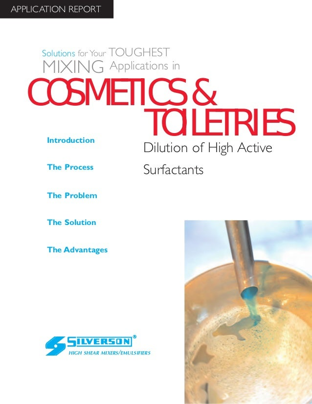 Toiletries Industry Case Study: Diluting High Active Surfactants such as Sodium Laureth Sulphate (SLES)