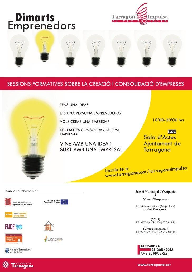 Tarragona impulsa: Dimarts emprenedors