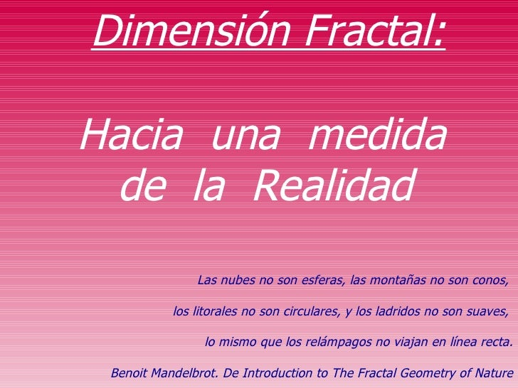 DimensióN Fractal