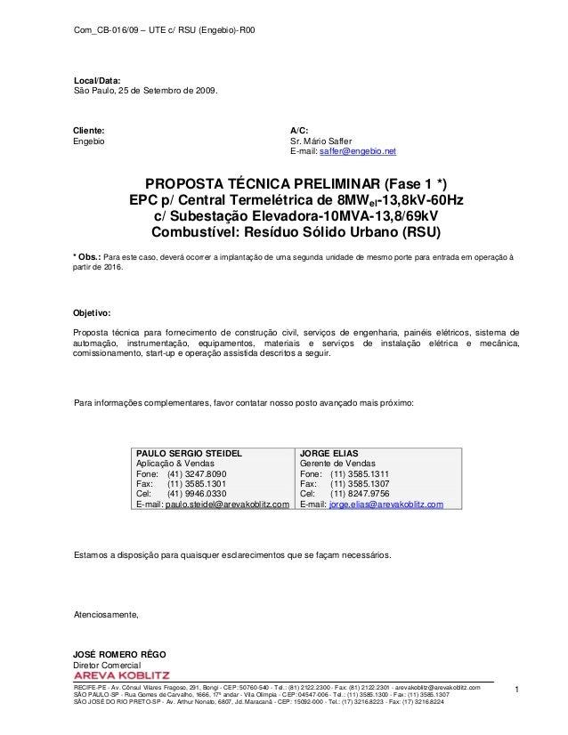 Com_CB-016/09 – UTE c/ RSU (Engebio)-R00 RECIFE-PE - Av. Cônsul Vilares Fragoso, 291, Bongi - CEP: 50760-540 - Tel.: (81) ...
