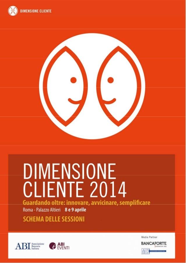Dimensione cliente 2014 schema delle sessioni