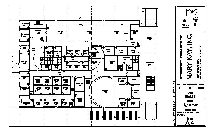 Dimensioned Floor Plan   A