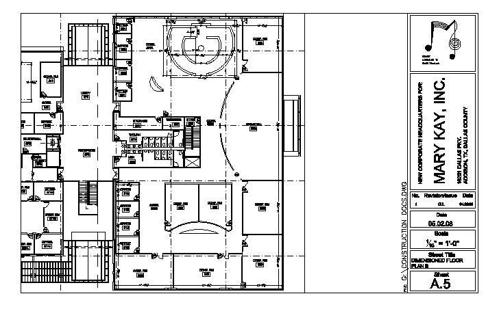 Dimensioned Floor Plan   B