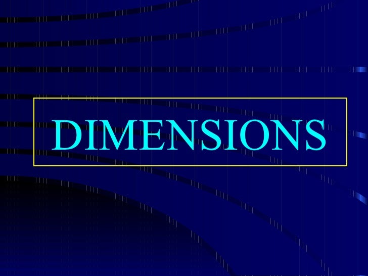 Dimensions Relatives
