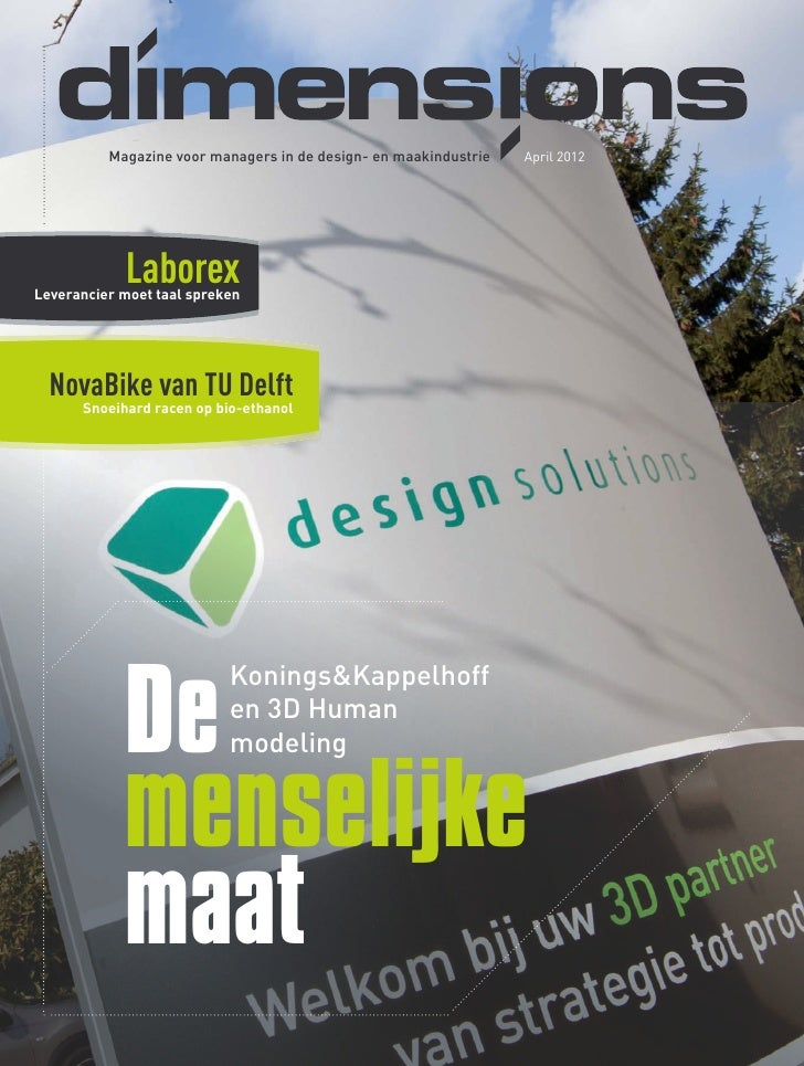 Magazine voor managers in de design- en maakindustrie   April 2012    dimensions            LaborexLeverancier moet taal s...