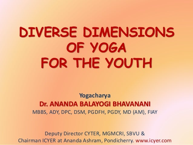 DIVERSE DIMENSIONS OF YOGA FOR THE YOUTH