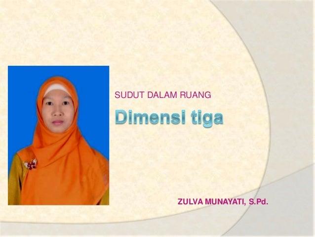 Dimensi tiga zulva