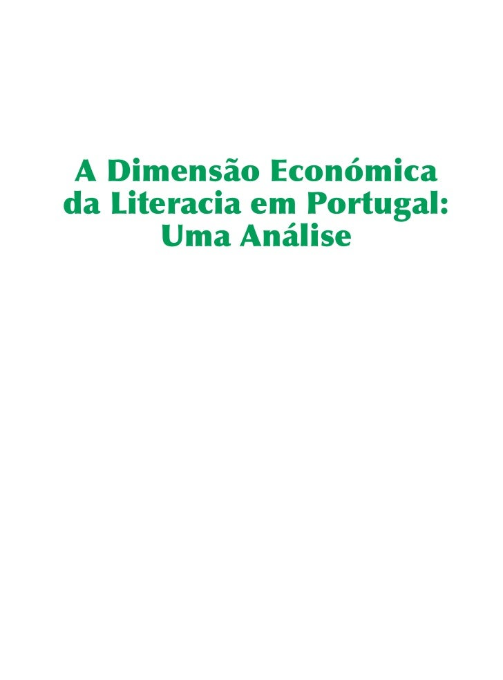 Dimensao Economica da Literacia em Portugal