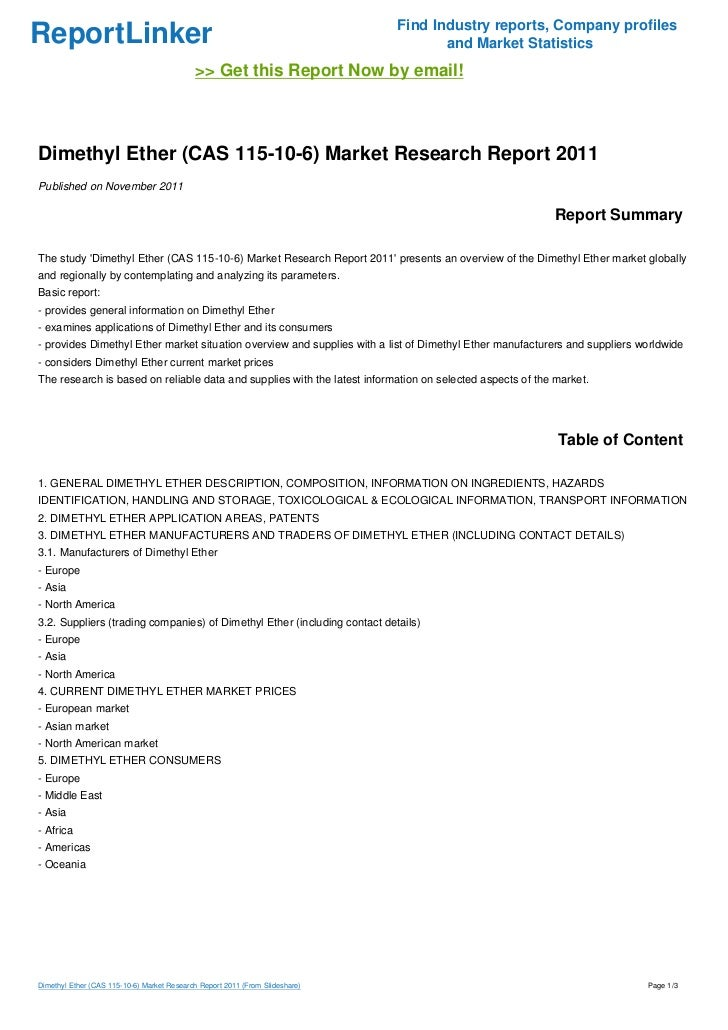 dimethyl ether research papers
