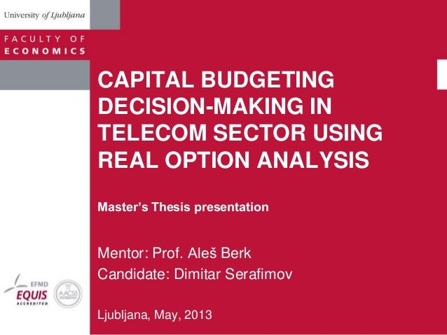 thesis on performance budgeting