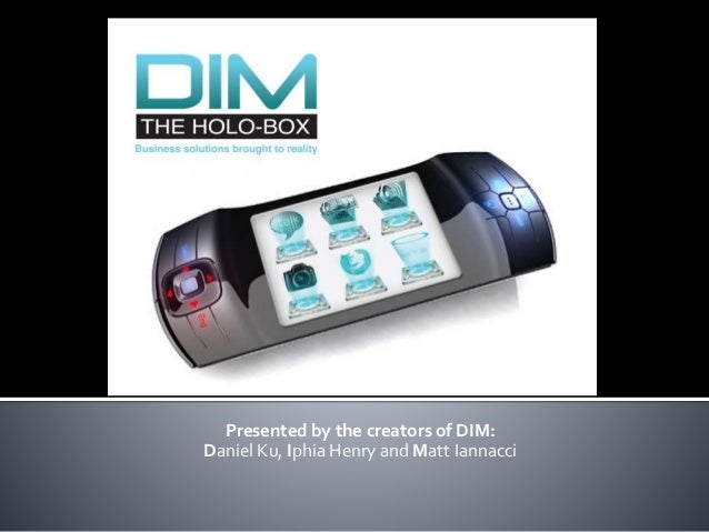 Presented by the creators of DIM: Daniel Ku, Iphia Henry and Matt Iannacci