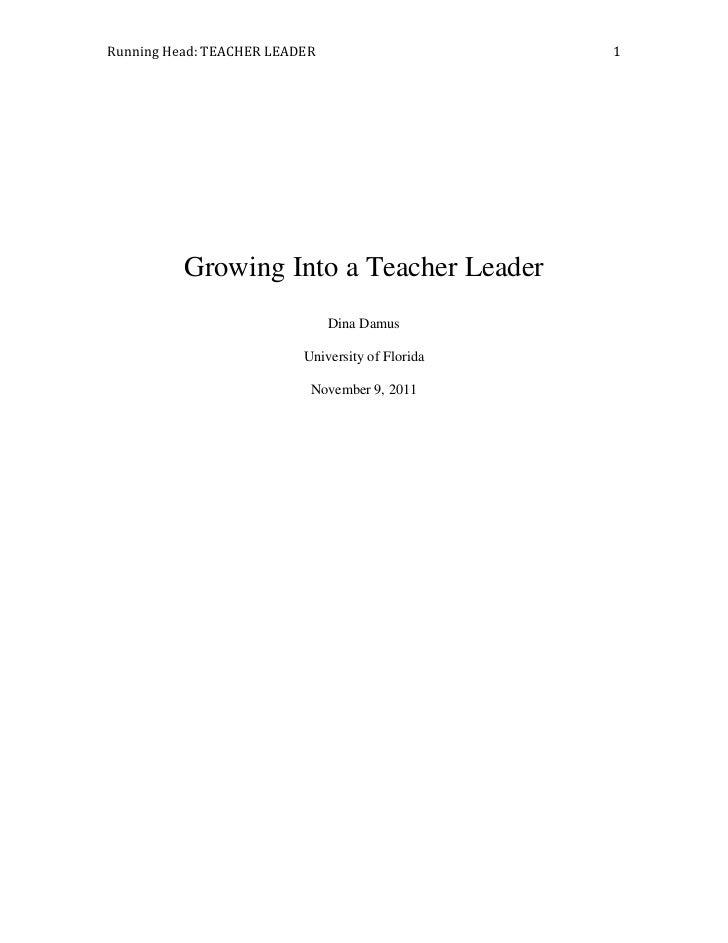 Growing Into A Teacher Lead