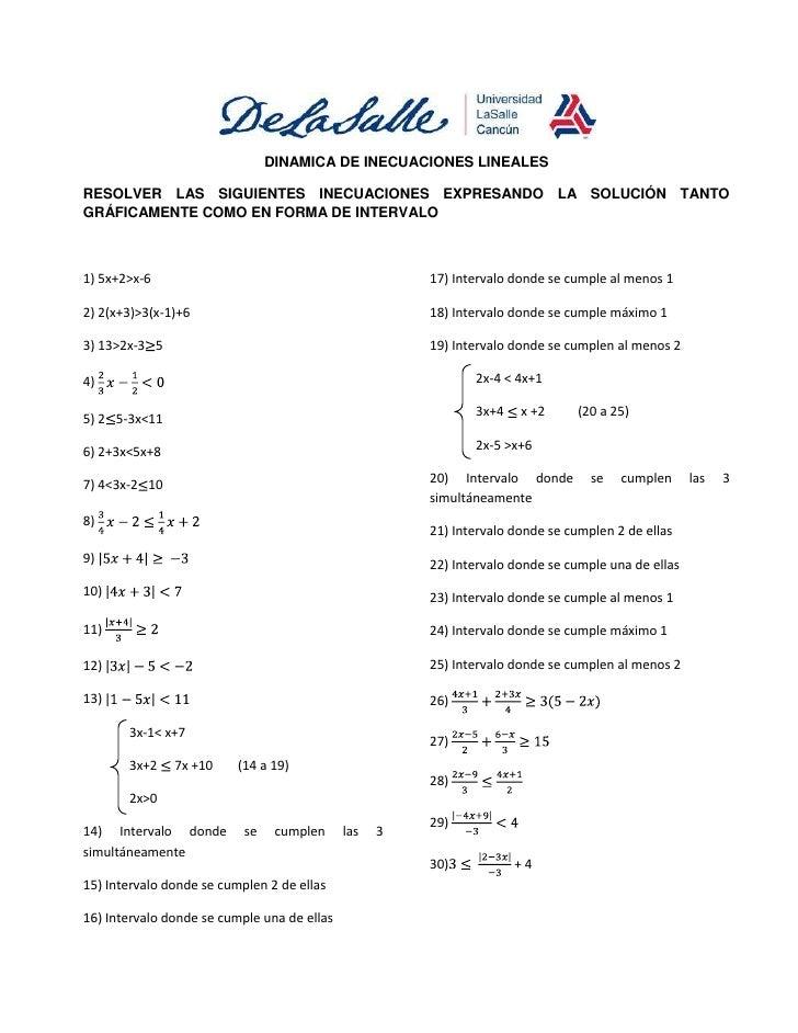Dinamica de inecuaciones lineales