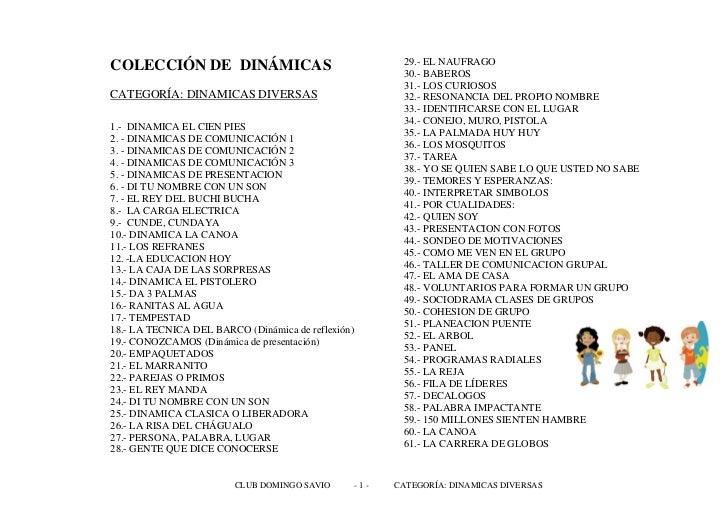 COLECCIÓN DE DINÁMICAS                                 29.- EL NAUFRAGO                                                   ...