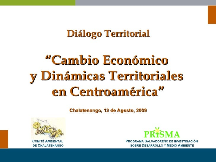 Cambio Económico y Dinámicas Territoriales en Centroamérica