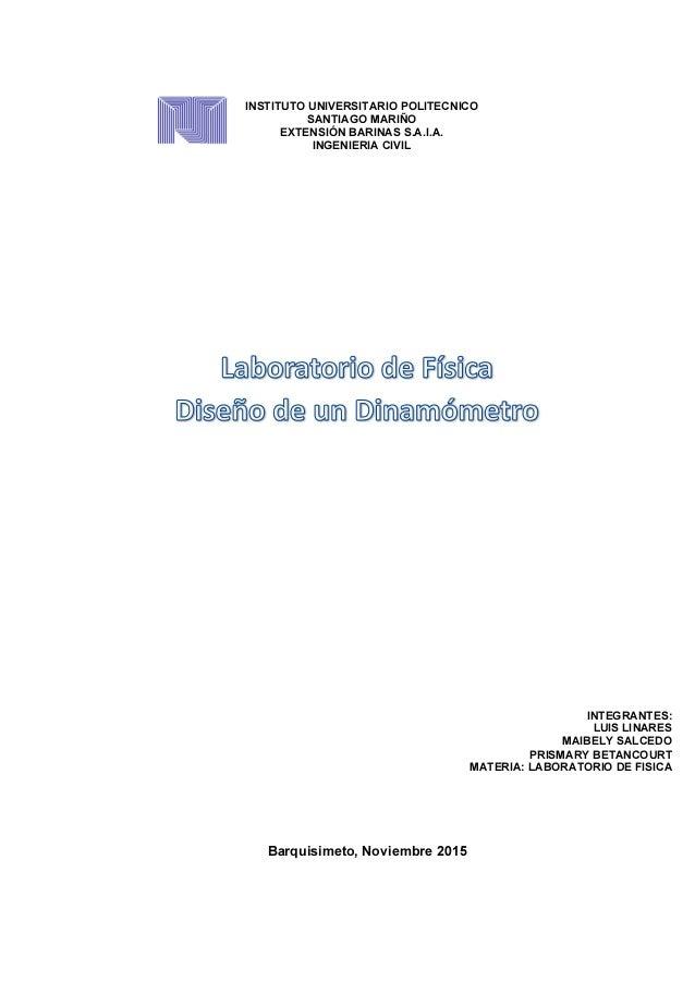 INSTITUTO UNIVERSITARIO POLITECNICO SANTIAGO MARIÑO EXTENSIÓN BARINAS S.A.I.A. INGENIERIA CIVIL INTEGRANTES: LUIS LINARES ...