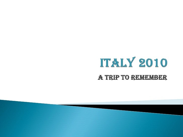 DiNapoli Family Trip to Italy