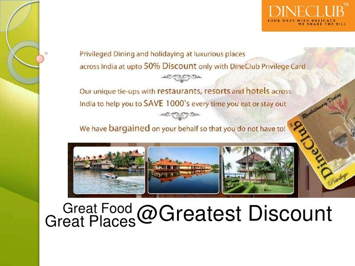 @Greatest Discount<br />Great Food<br />Great Places<br />