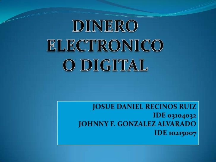 Dinero electronico