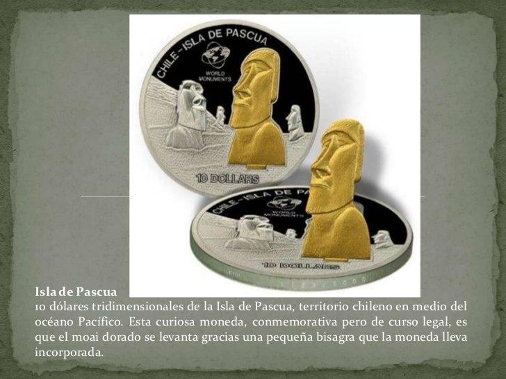 Isla de Pascua<br />10 dólares tridimensionales de la Isla de Pascua, territorio chileno en medio del océano Pacífico. Est...