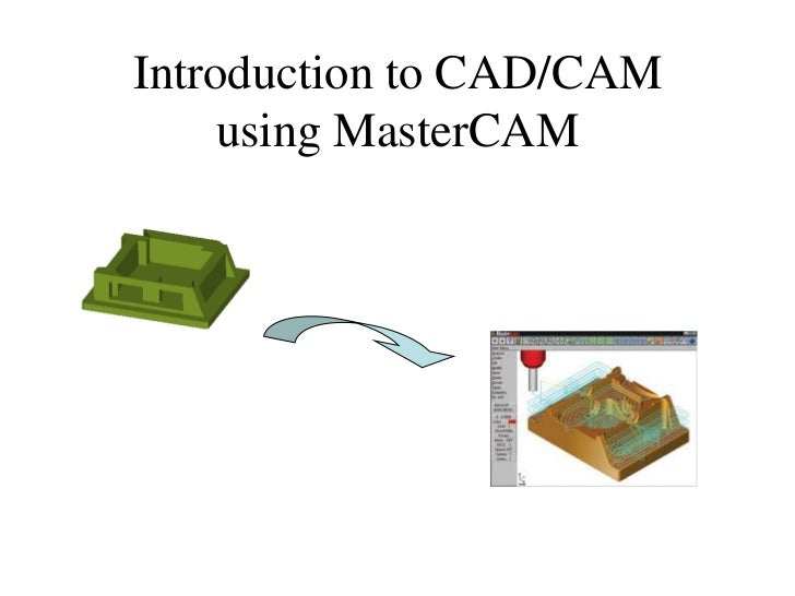 Introduction to CAD/CAM     using MasterCAM