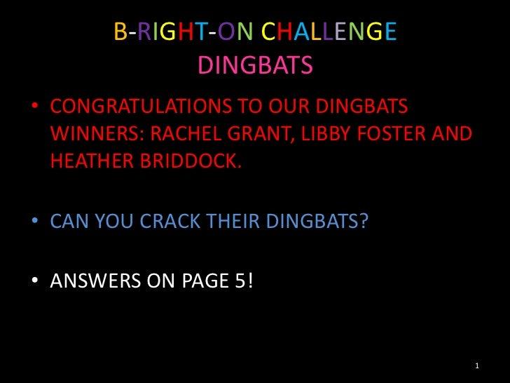 Dingbats winners