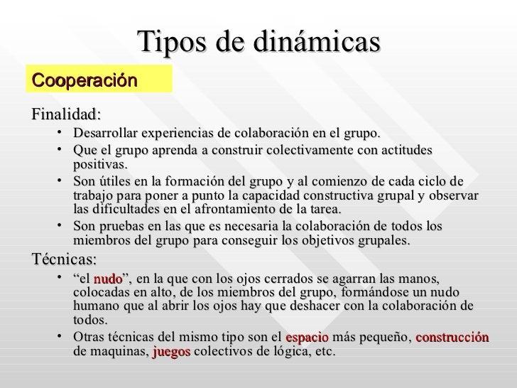 practica de la dinamica de grupos