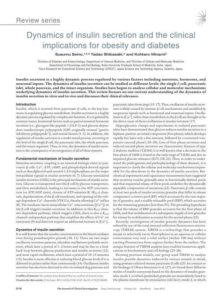 Dinâmica da secreção de insulina, dm2,obesidade