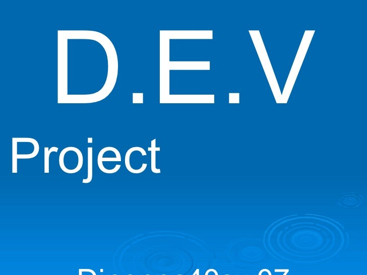 Dino's DEV Project