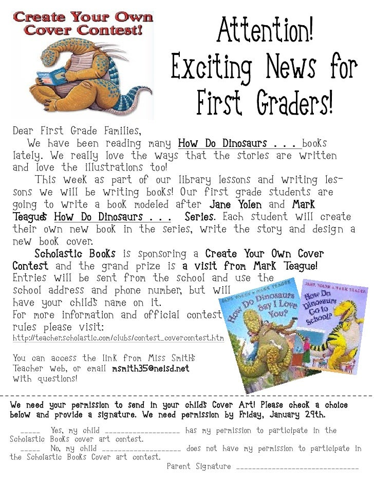 Dear First Grade Families,    We have been reading many How Do Dinosaurs . . . bo oks lately. We really love the ways that...