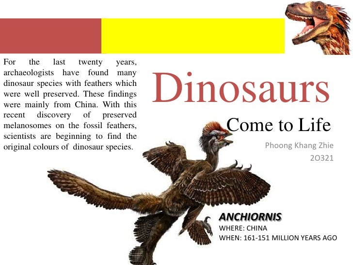 For the last twenty years, archaeologists have found many dinosaur species with feathers which were well preserved. These ...