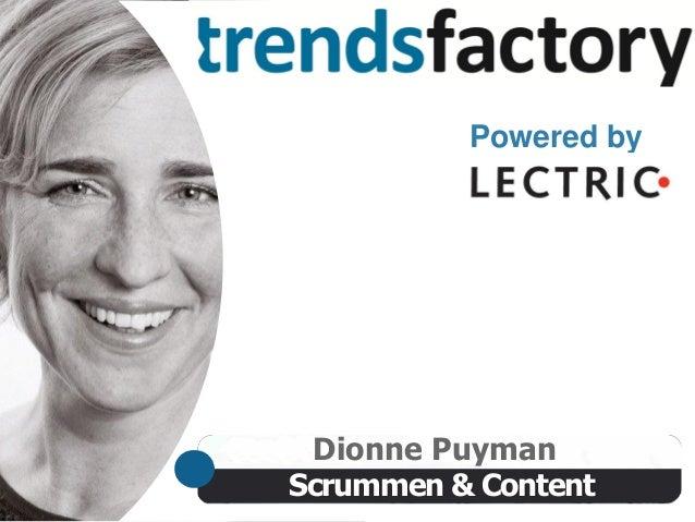 Trendsfactory: Content & Scrum, door Dionne Puyman