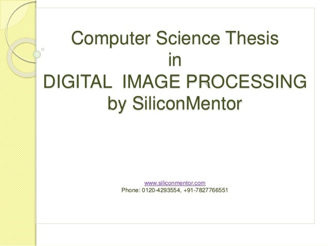 Master thesis computer science