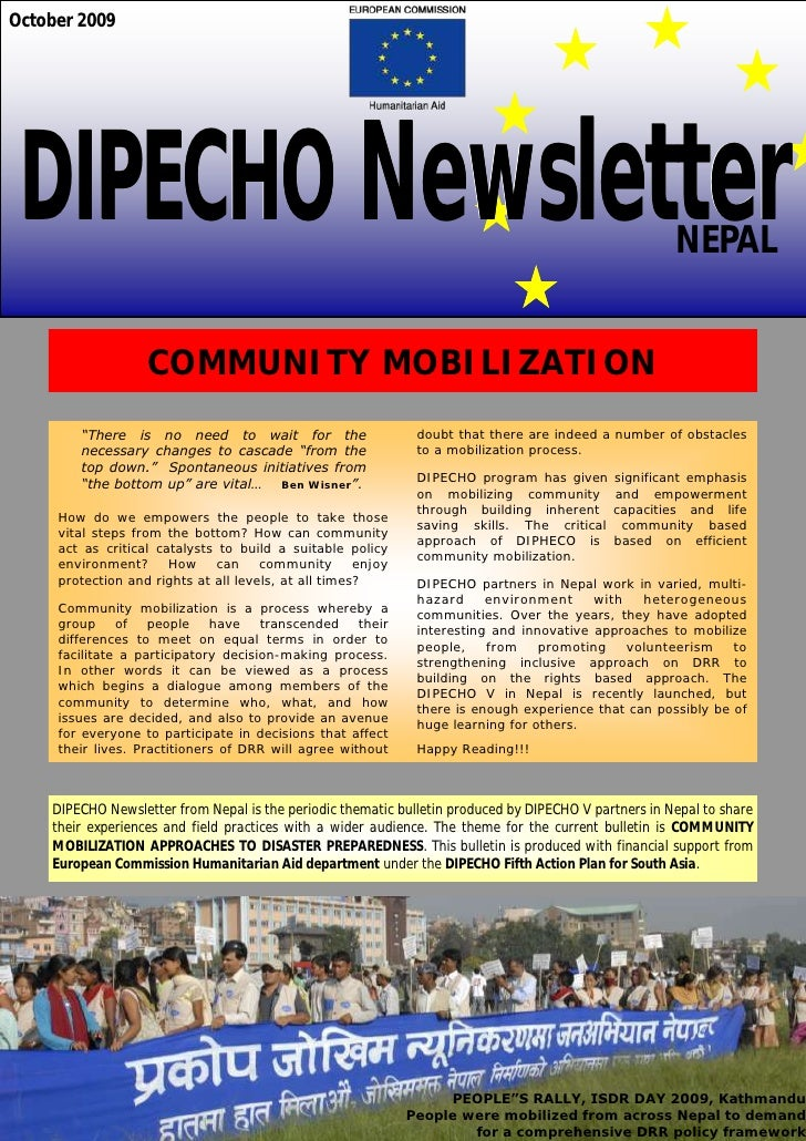 Dipecho5 news letter  2nd edition- oct 09 aa