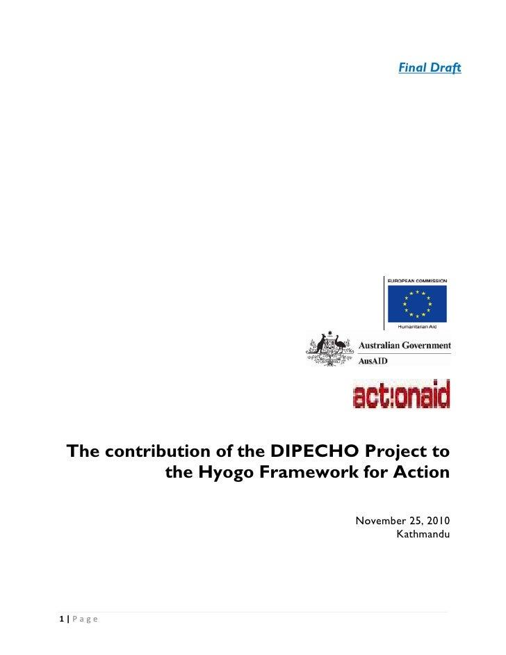 Dipecho nepal contribution2 hfa final report nov 30 _2_