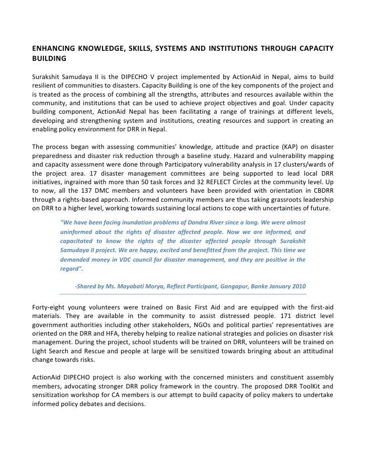 Dipecho v aan article for capacity development aan