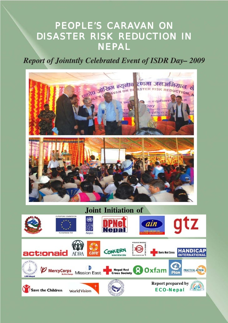 CARAV       PEOPLE'S CARAVAN ON    DISASTER RISK REDUCTION IN              NEPAL              NEPAL Report of Jointntly Ce...