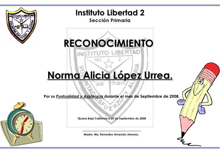 Certificado De Asistencia Perfecta