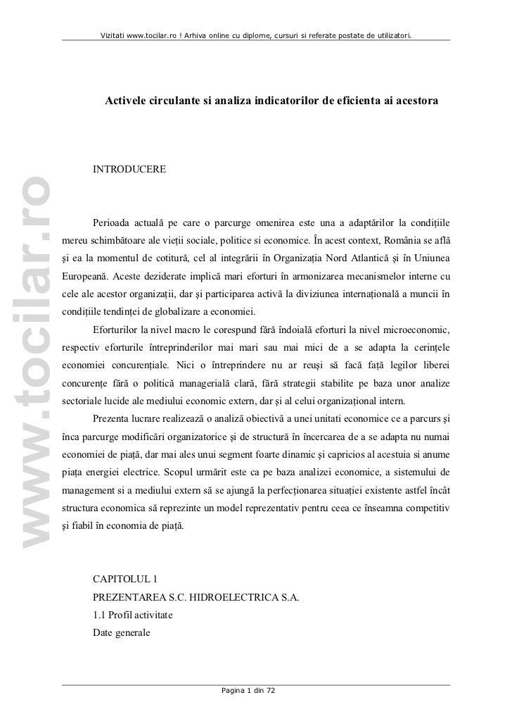 Vizitati www.tocilar.ro ! Arhiva online cu diplome, cursuri si referate postate de utilizatori.          Activele circulan...