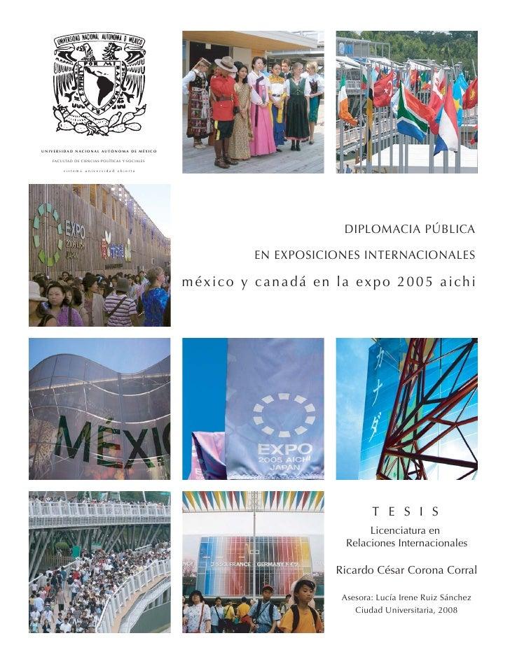Diplomacia pública en Exposiciones Internacionales: México y Canadá en la Expo 2005 Aichi