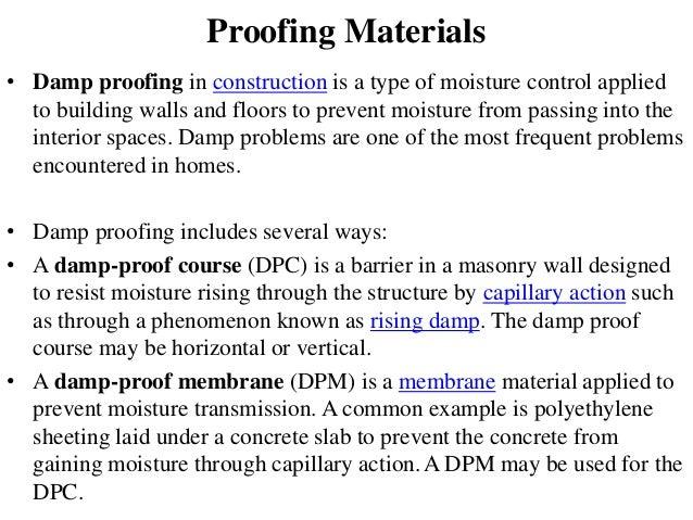 Damp Proof Material : Diploma civil sem i boce unit engineering materials a