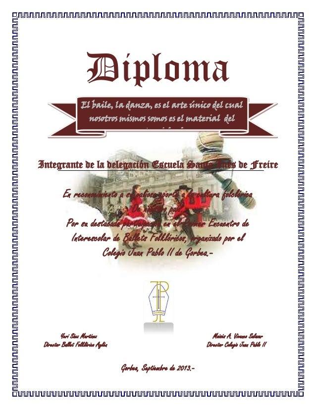 Diploma danza