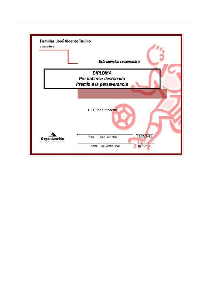 Diploma deportista.