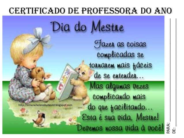 CERTIFICADO DE PROFESSORA DO ANOPARA:_____________________________________________DE:_____________________________________...