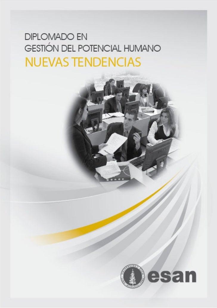 Diplomado en Gestión del Potencial Humano: Nuevas Tendencias - Regiones