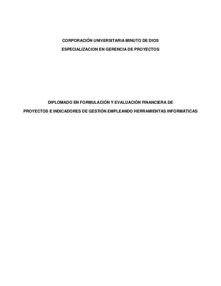 Diplomado especializacion en proyectos